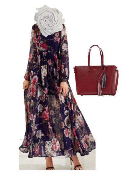 الفساتين المطبعة بالورود